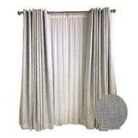 Extra-Wide Light Grey Curtains 105 inches Wide