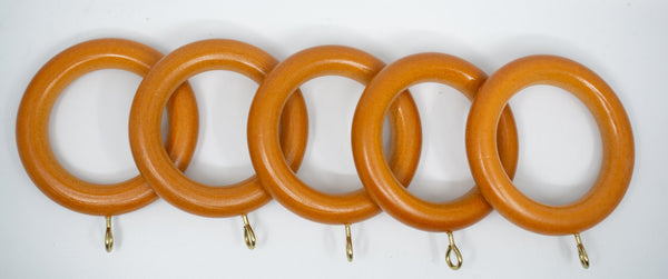 "1 3/4"" Wood Rings (14 rings) Oak Color"