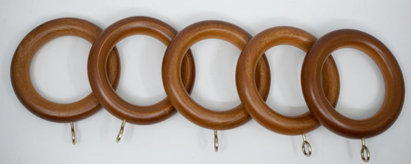 "1 3/4"" Wood Rings (14 rings) Walnut Color"