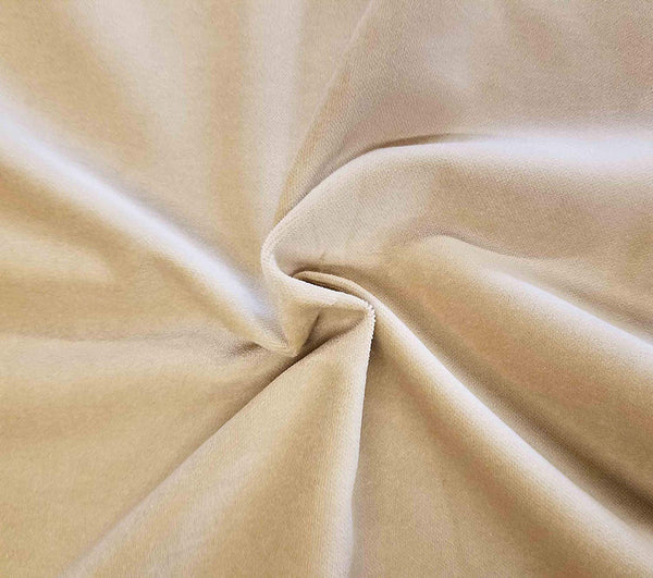 Designer Fabrics 54 in. Wide ,  Cotton   Velvet Upholstery Fabric Color Sand