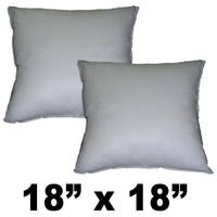 Hometex Square Polyester Fill Pillow Form 18 X 18 SET of 2