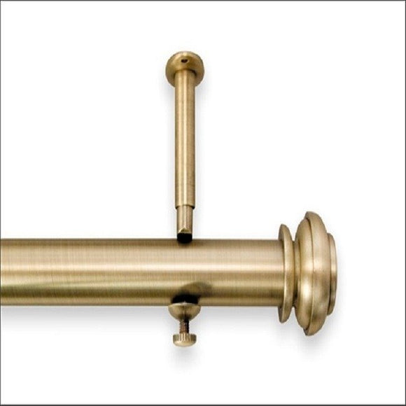 Christian style Single Curtain Rod and Hardware Set Metallic Gold 48 - 86