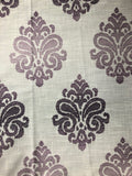 "Jacquard Purple Ombre Damask- 108"" length"