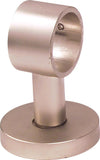 "Acrylic Lucid Rod  - Bracket Brushed Nickel,  1 1/8"" diameter, Clear Rods"