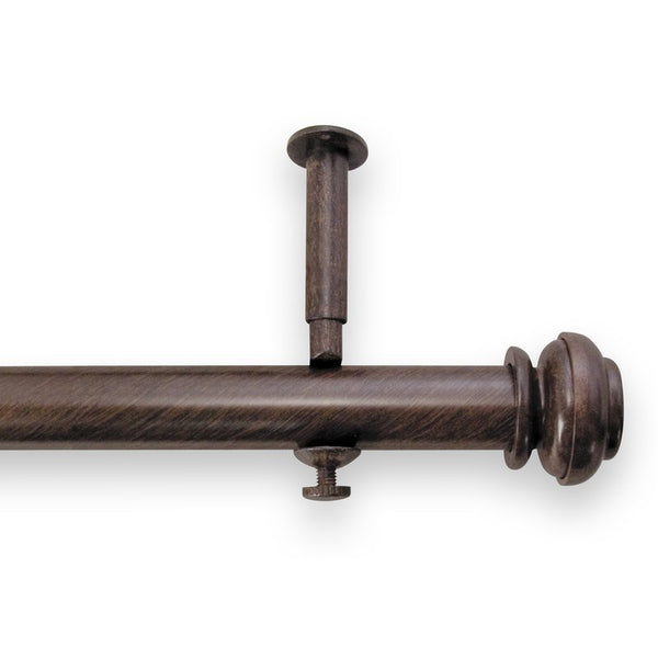 Source Global Bold Pole Adjustable Curtain Rod Set, 48-Inch to 86-Inch   Color:Antique Brown