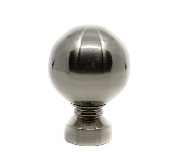 "Copy of Ball Finials For 1 3/8"" (35mm) Diameter Rod Brushed Nickel"