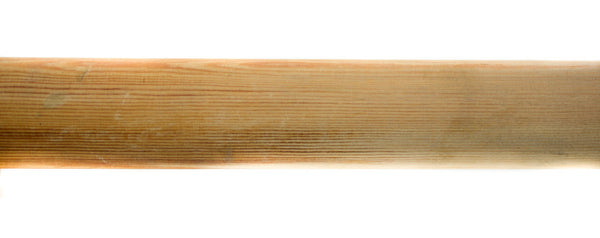 8 foot Smooth Wood Pole  1 3/8 (35mm) Natural / Un Finished