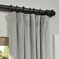 "Velvet Blackout Curtain Panel with lining - SOLD AS PAIR - 96"" H"