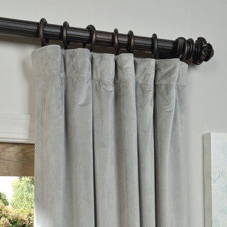 Orla Velvet Blackout Curtain Panel lined and back tab