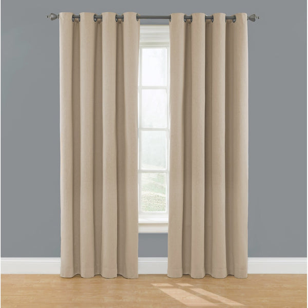 "DK Eclipse Solid Blackout Window Curtain Panel 52"" W x 96"" L  	Beige"