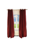"Exclusive Fabrics & Furnishing Blackout Faux Silk Taffeta Curtain Panel 108"" long"