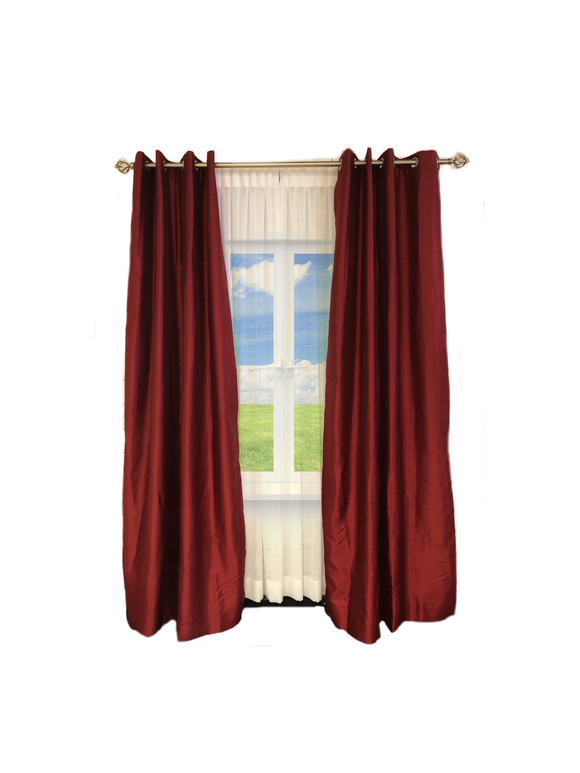 Exclusive Fabrics & Furnishing Blackout Faux Silk Taffeta Curtain Panel 120