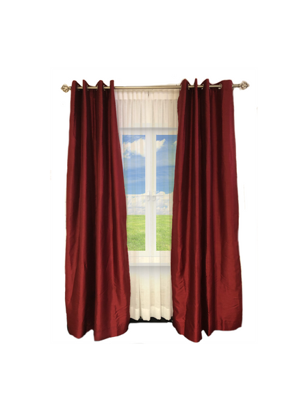 "Exclusive Fabrics & Furnishing Blackout Faux Silk Taffeta Curtain Panel 108""/ 96 Long"