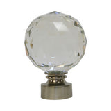 "Dynasty Crystal Finial 1-3/8""(35mm) pewter sold as (Pair)"