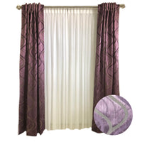 D K Home Mauve with Swirl Curtains