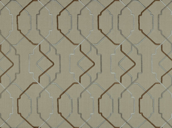 "Grayson 922 Granite Covington  Fabric Embroidery 54"" wide"