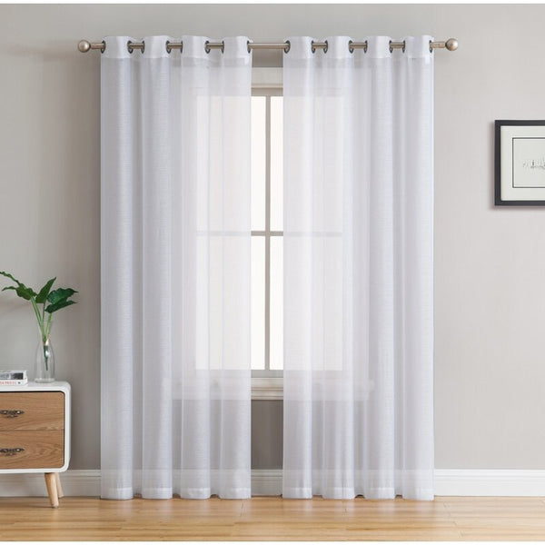 Highlawn Solid Sheer Grommet Curtain Panels