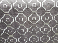 Moca, platinum Embroidered 100% Polyester Linen Drapery Fabric (54 in.) Geometric