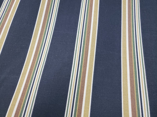 Tommy Bahama Indoor/Outdoor Palmiers Caviar Fabric stripe
