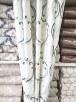 Casafina Tidewater, Linen Embroidery, Now only $45 a yard