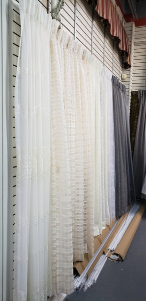 Pinch Pleat Ready Made Drapery available At Drapery King Toronto
