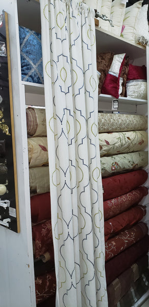 Ready Made Trellus Drapery Panels Lined for 2 Panels Now $99