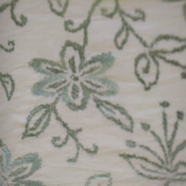 Floral Vinyard Embroidered Fabric