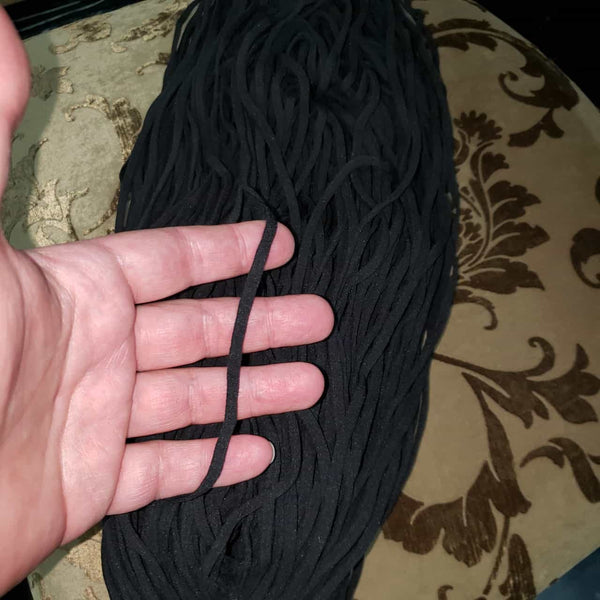 Elastic, Black, 150 mtr, 5mm soft