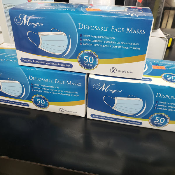 "Disposable 3 ply ""Mask""  50 pc Box"