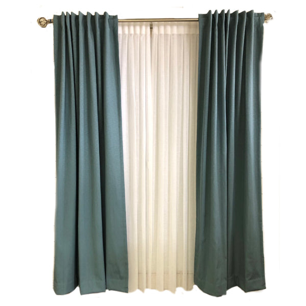 Solid Blue Curtains