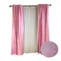 Copes Silk Room Darkening Rod Pocket Single Curtain Panel pink