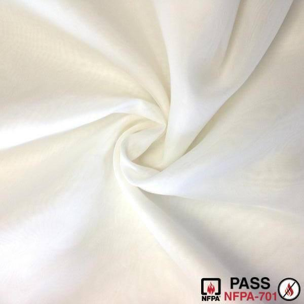 "SHEER VOILE (118"") - FIRE RETARDANT, Ivory, Empire Voile, can/ulc s-109"