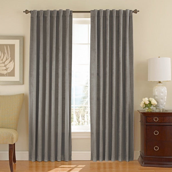 Tantra Velvet Curtain Panel with Lining and Back-tabs -ASH at Drapery King Toronto 647-219-1714