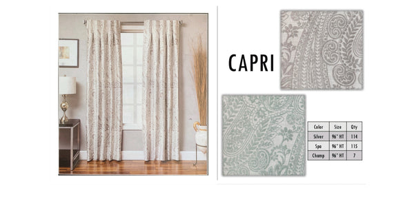 Milan, Capri, Pazly pleated Drapery 79.99 Canadian Money by Drapery King Toronto