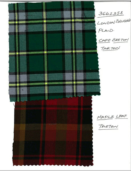 Tartan 100% cotton 15 Mtr pc of each 30mtr Total