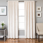 Tantra Velvet Curtain Panel with Lining and Back-tabs - Pearl