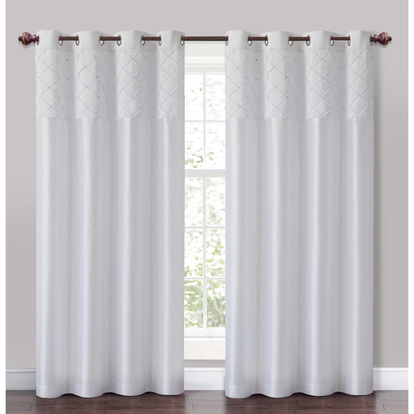 VCNY Roxanne Pintuck Curtain Panel $39.99CAD
