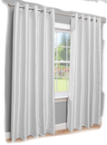 "Linen Drapery Panel - White - Double Width Panel - 100"" W x 96""H    EXCLUSIVE!"