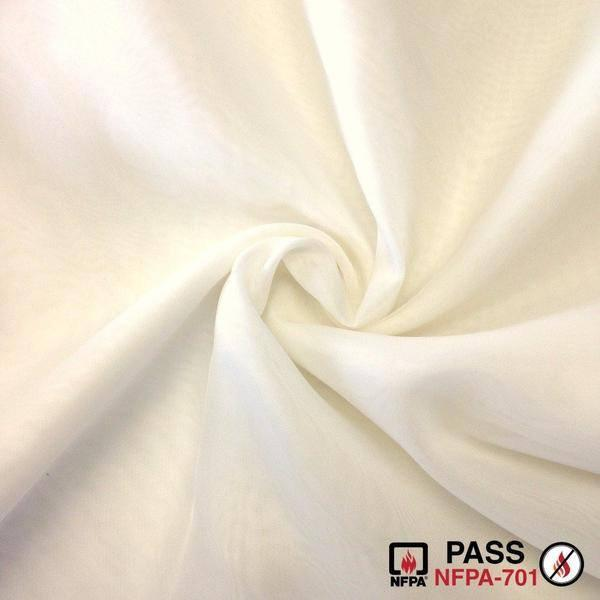 "SHEER VOILE (118"") - FIRE RETARDANT, White, Empire Voil, Champagne, can/ulc s-109"