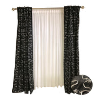 Black Taffeta with Silver Ribbon Embroidery