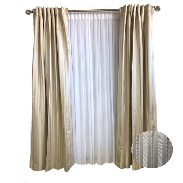 Champagne and Ivory Stripe Curtains