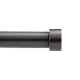"Cappa"" Curtain Rod - 66"" to 120"" - Brushed Black"
