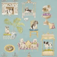 Show Dog Fabric in a lovely robins egg blue tone
