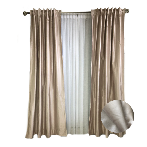 Copes Silk Room Darkening Rod Pocket Single Curtain Panel