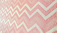 Jacquard Drapery Panel,  Bright Pink Geometric Embroidery