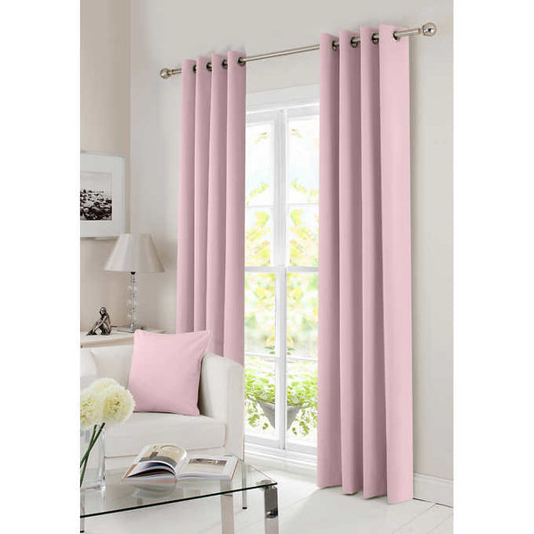 "Gouchee Design Solar Blackout Panel Set of 2, 54""W x 96""H each Pink"