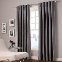 Designers' Select Maximus Inverted Pleat Window Curtain Panels lined 30W  X  95L  Colour charcoal