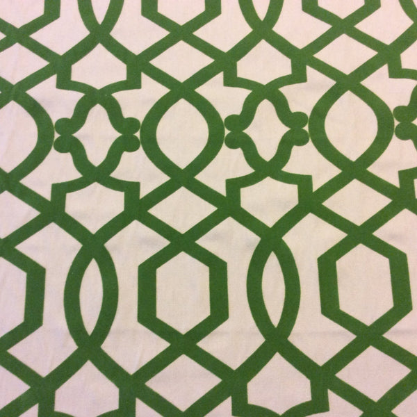 NEW! OR125 Flocked Emerald Lattice Cut Velvet By the Yard Home Decor Fabric 29.99