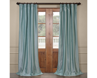 Half Price Drapes PTCH-JTSP5-120 Faux Silk Taffeta Curtain, Robin's Egg