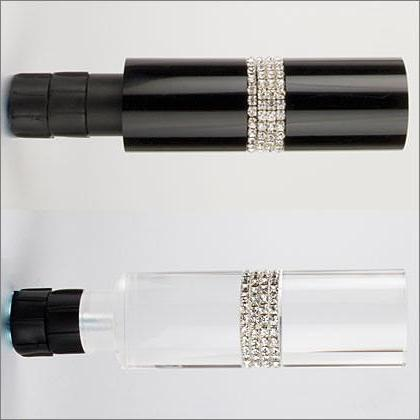 "Marcy Crystal Pave Finial for 1 1/8"" rod - Available in black or lucite"